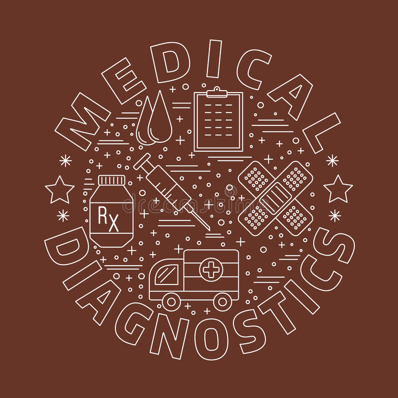 Download Medicinsk Diagnostik, Begrepp För Grafisk Design För Undersökning Vektor Illustrationer - Illustration av examen, analys: 76700996
