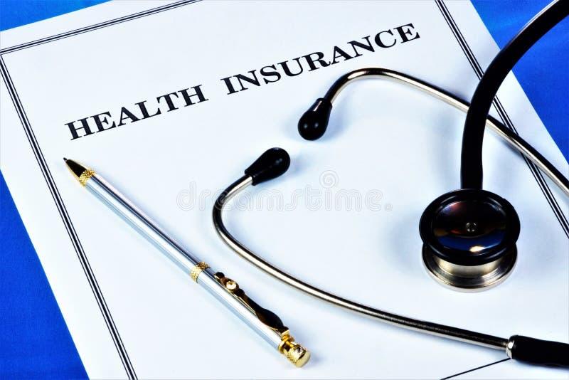 Medicinsk försäkring av mänsklig hälsa Medicinsk försäkring ger finansiell välbefinnande täcker delen av kostnaderna av den försä arkivfoton