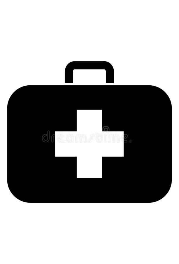 Medicinsk fallsymbolsvektor stock illustrationer