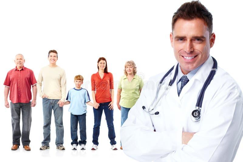 Medicinsk familjdoktor och patienter royaltyfri bild