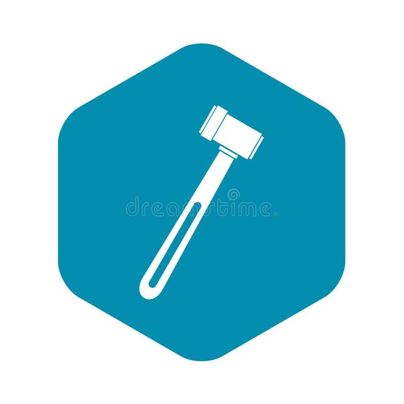 Medicinsk hammaresymbol, enkel stil stock illustrationer