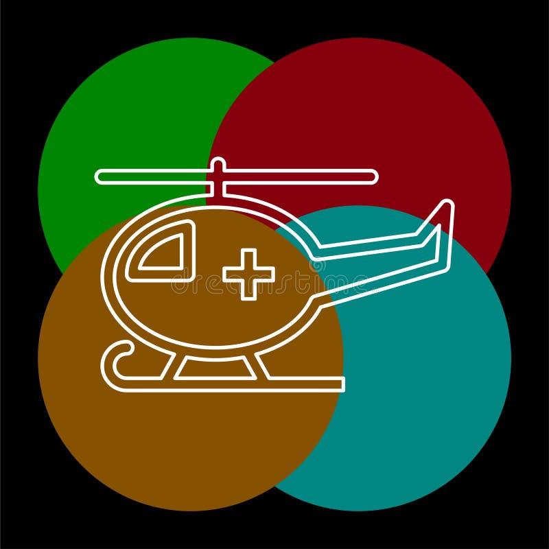Medicinsk helikopterillustration f?r vektor royaltyfri illustrationer