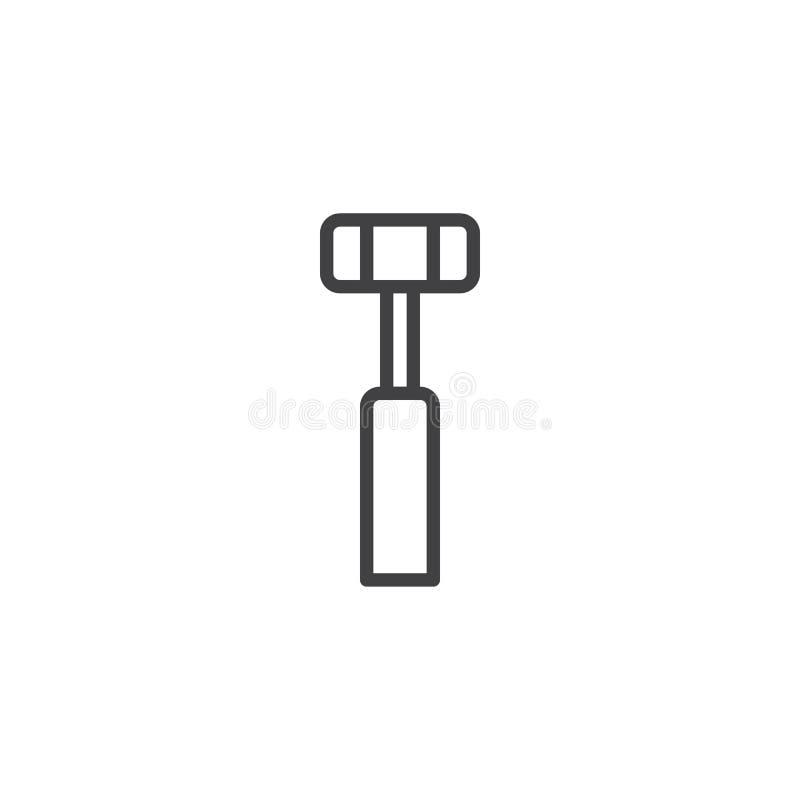Medicinsk hummerlinje symbol royaltyfri illustrationer