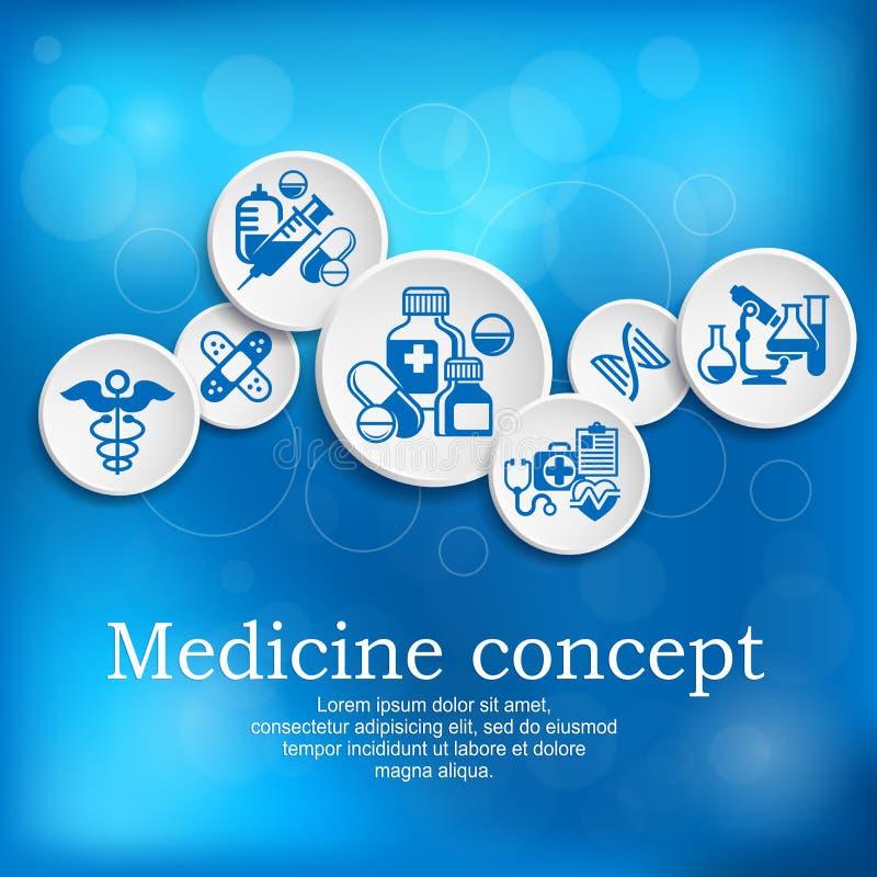 Medicinsk illustration för begreppsmedicinvektor vektor illustrationer
