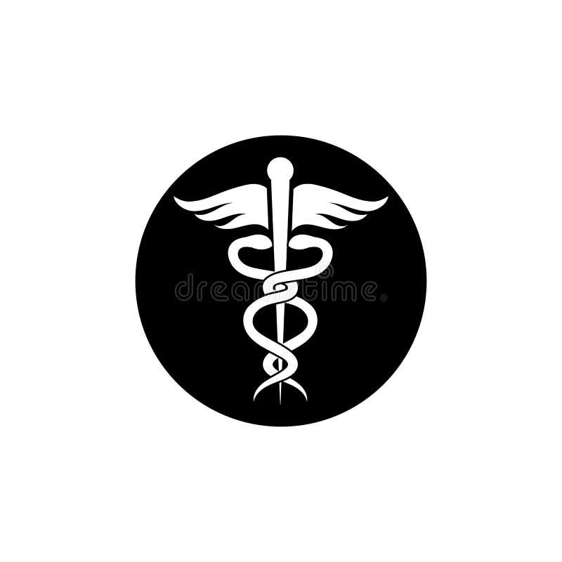 medicinsk illustration för ormsymbolsvektor royaltyfri illustrationer