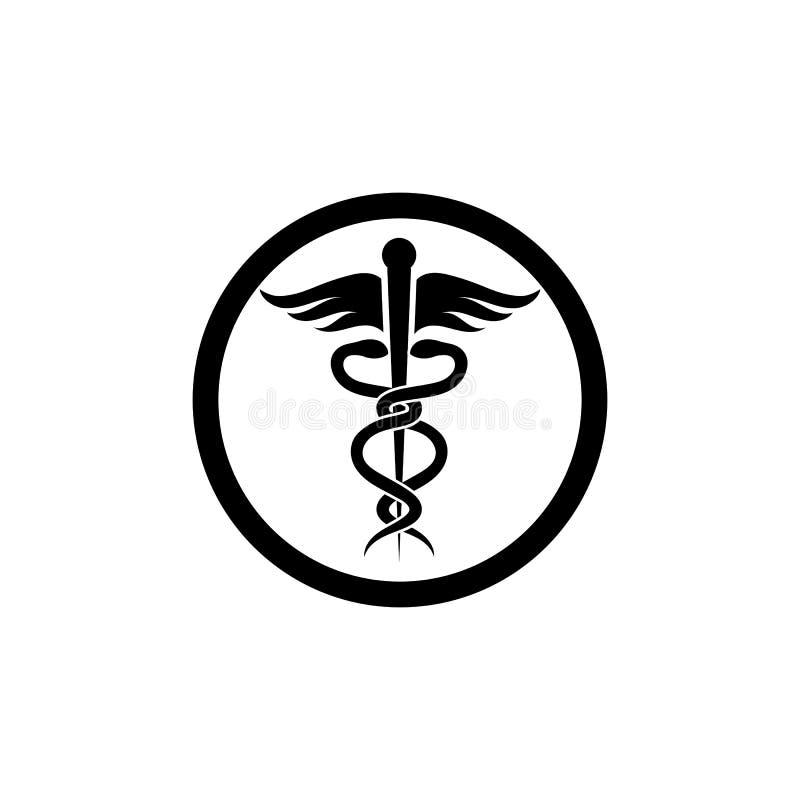 medicinsk illustration för ormsymbolsvektor stock illustrationer