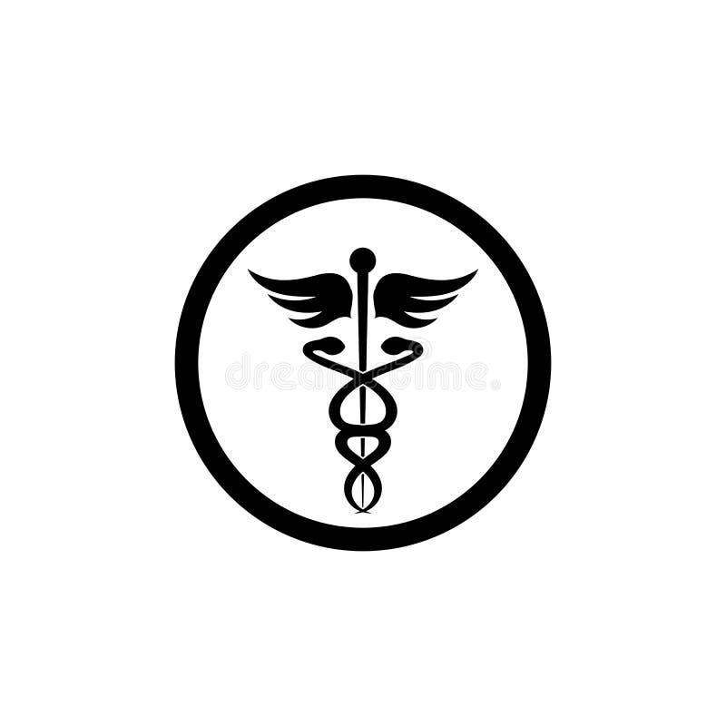 medicinsk illustration för ormsymbolsvektor vektor illustrationer