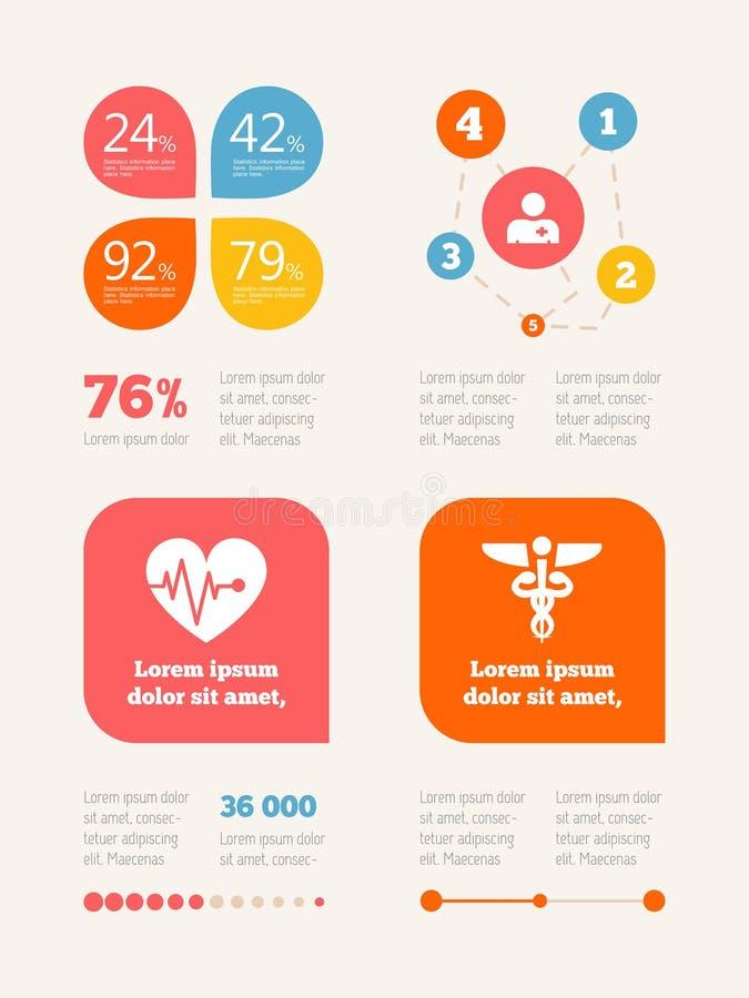 Medicinsk Infographic beståndsdel stock illustrationer