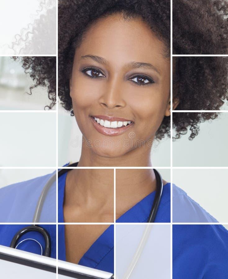 Medicinsk kvinnadoktor sjuksköterska Hospital Portrait arkivbild
