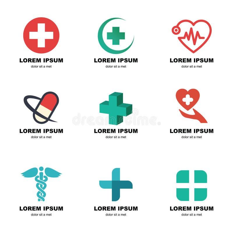 Medicinsk logo vektor illustrationer