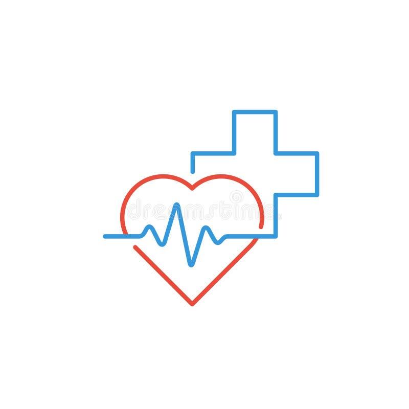 Medicinsk logo Apotek apotek, hälsovårdmitt, diagnostikservice stock illustrationer