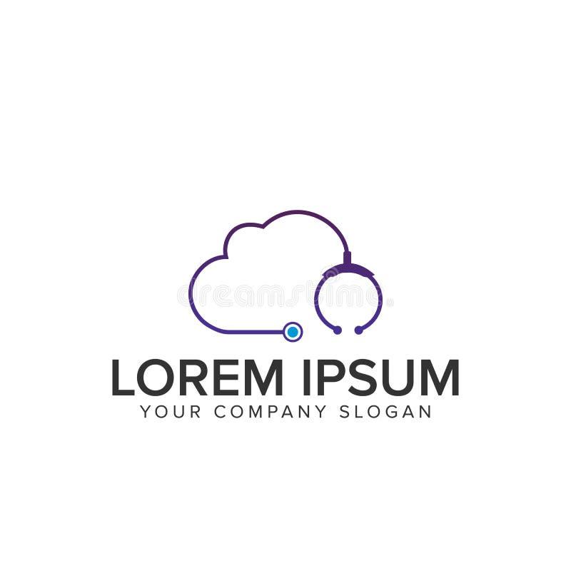 Medicinsk logo för moln stock illustrationer