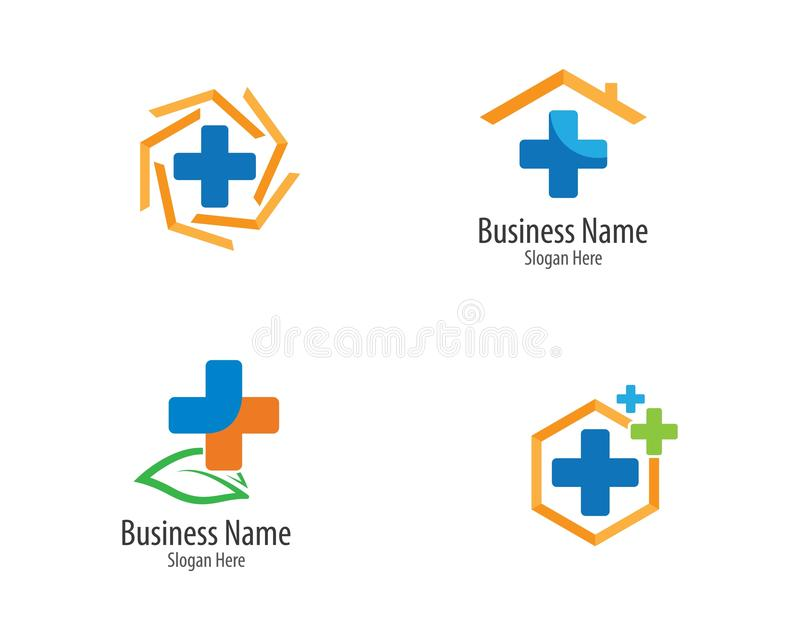 Medicinsk logomallillustration stock illustrationer