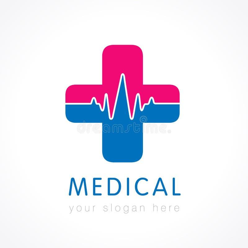 Medicinsk logotyp royaltyfri illustrationer