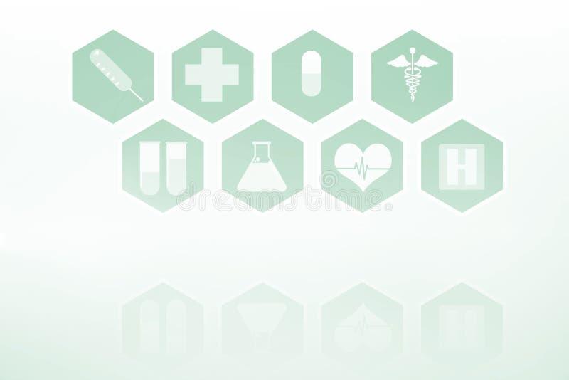 Medicinsk manöverenhet i blått och vit royaltyfri illustrationer