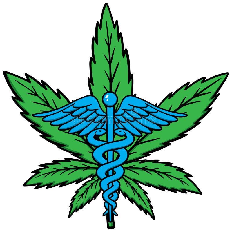 Medicinsk marijuanasymbol stock illustrationer