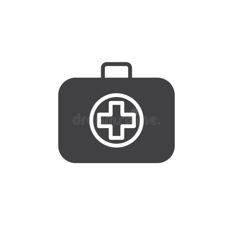 Medicinsk påsesymbolsvektor, fyllt plant tecken, fast pictogram som isoleras på vit stock illustrationer