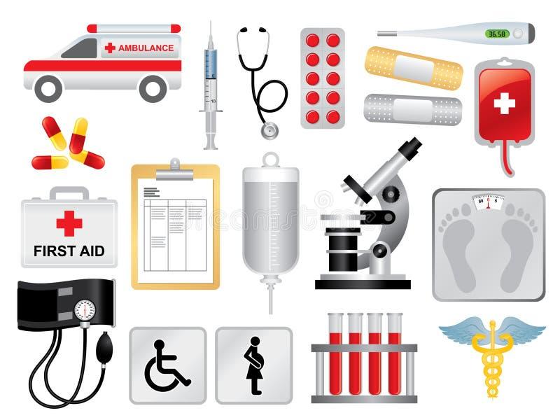 medicinsk packe royaltyfri illustrationer