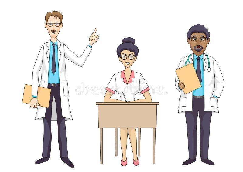 Medicinsk personal för sjukhus stock illustrationer