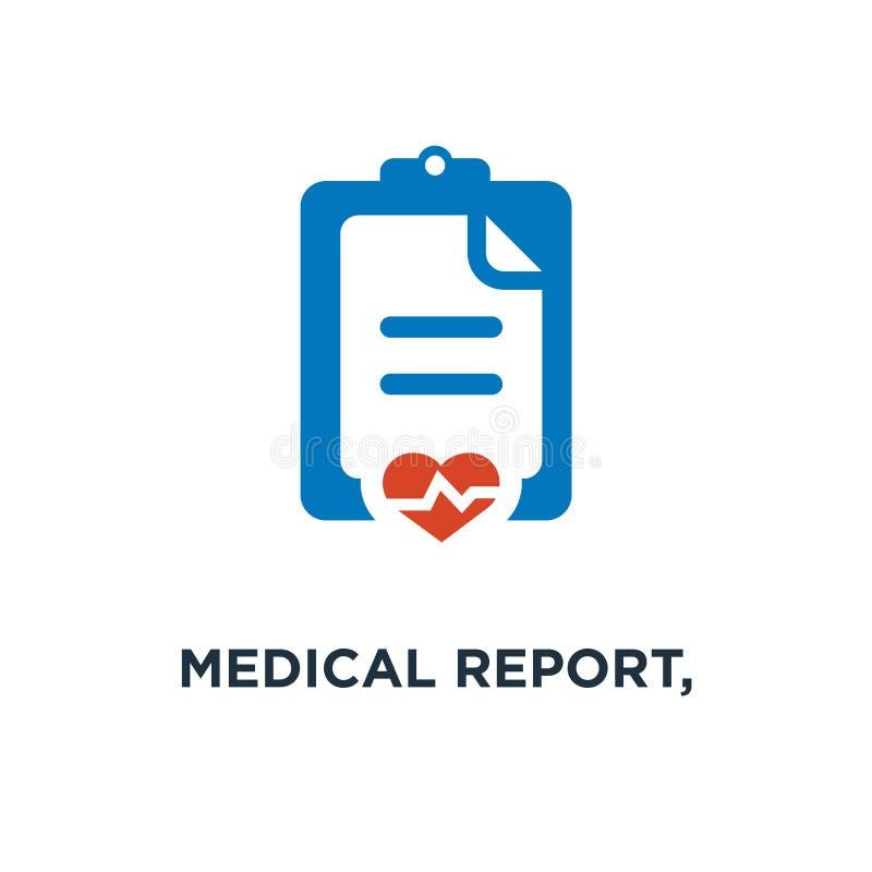 medicinsk rapport, tålmodig vård- rekord- symbol medicinprescriptio vektor illustrationer