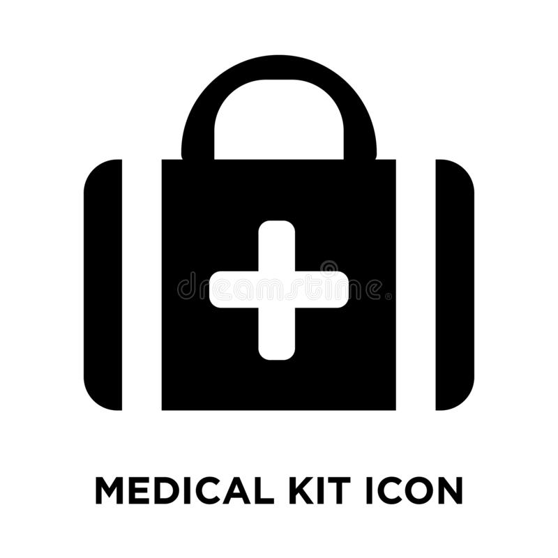 Medicinsk satssymbolsvektor som isoleras på vit bakgrund, logoconce vektor illustrationer
