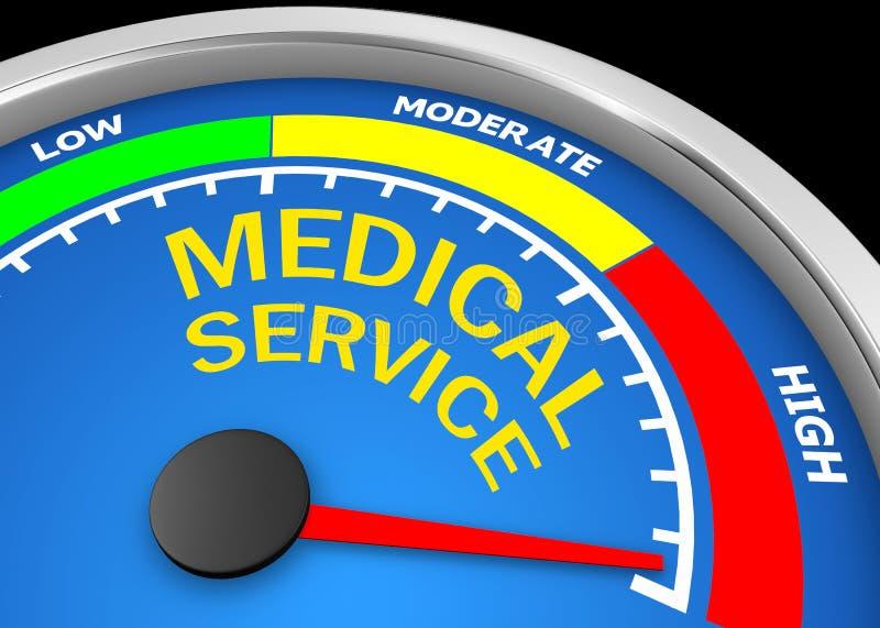 medicinsk service stock illustrationer