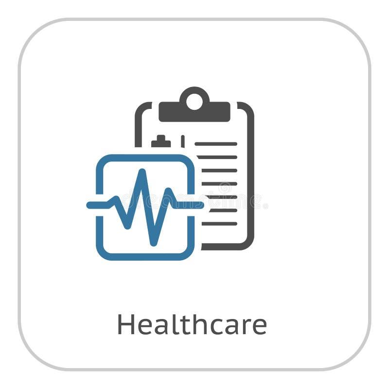 Medicinsk service och plan symbol för hälsovård royaltyfri illustrationer