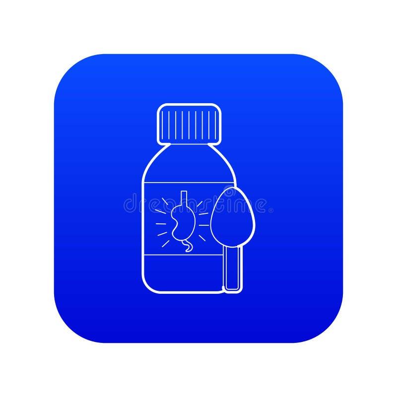 Medicinsk sirap för blå vektor för njuresymbol vektor illustrationer