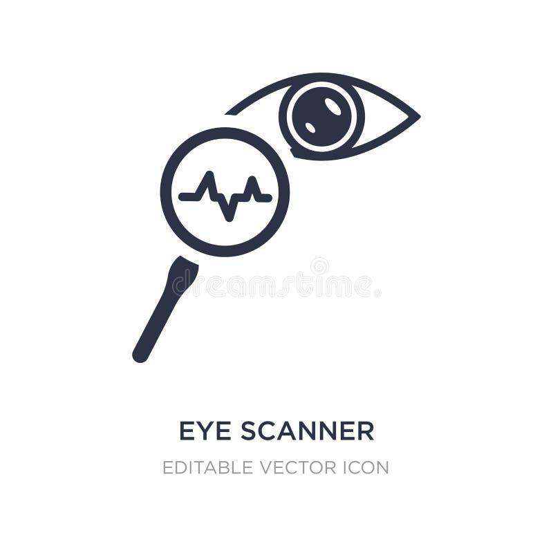 medicinsk symbol för ögonbildläsare på vit bakgrund Enkel beståndsdelillustration från medicinskt begrepp vektor illustrationer