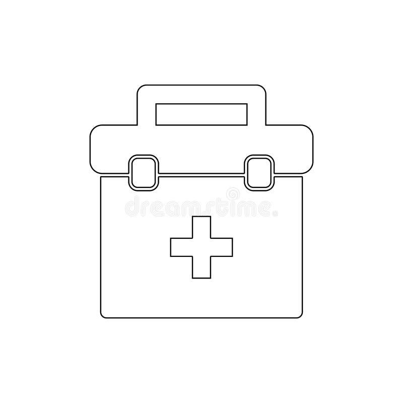 Medicinsk symbol f?r f?rsta hj?lpensats?versikt Tecknet och symboler kan anv?ndas f?r reng?ringsduken, logoen, den mobila appen,  vektor illustrationer