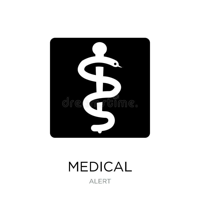 medicinsk symbol i moderiktig designstil Medicinsk symbol som isoleras på vit bakgrund enkelt och modernt plant symbol för medici vektor illustrationer
