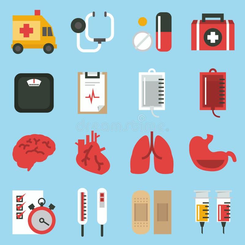 Medicinsk symbolsuppsättning vektor illustrationer