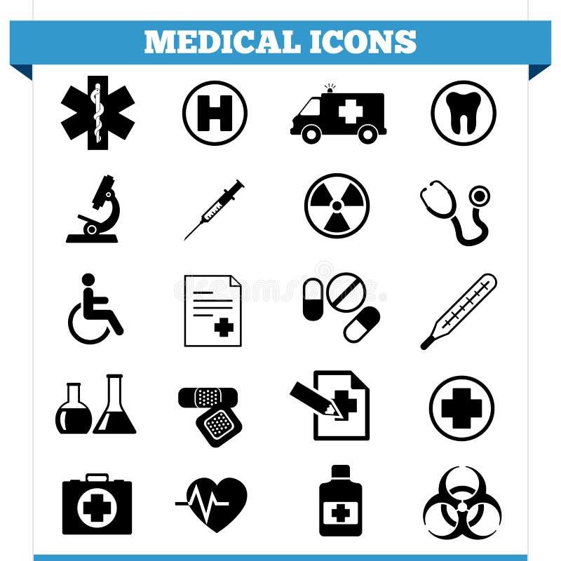 Medicinsk symbolsvektoruppsättning vektor illustrationer