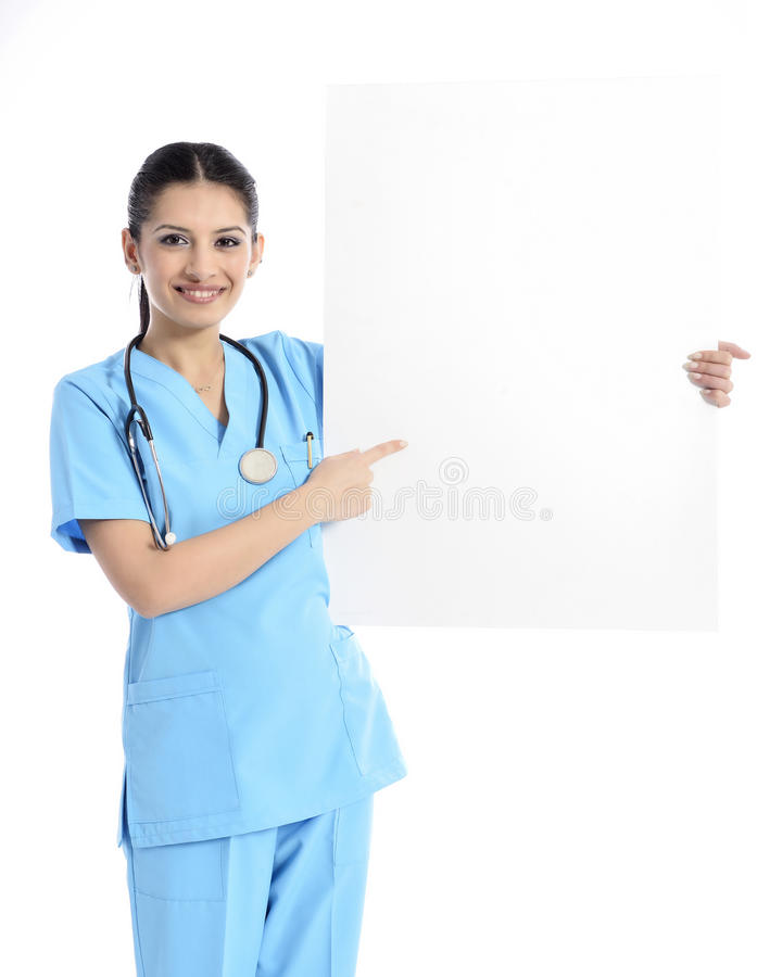 Medicinsk teckensjuksköterska arkivfoton