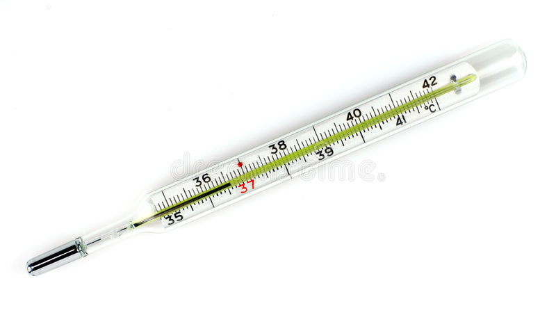 medicinsk termometer royaltyfri bild