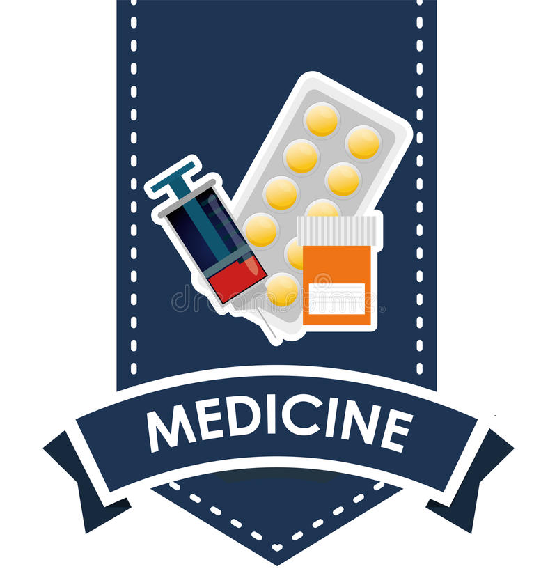 Medicinsk vårddesign royaltyfri illustrationer