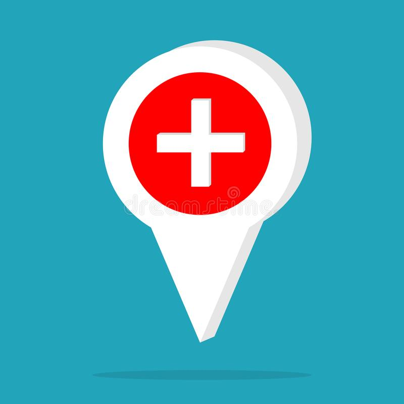 Medicinsk vårdtecken Vård- medicinsk logomall också vektor för coreldrawillustration royaltyfri illustrationer