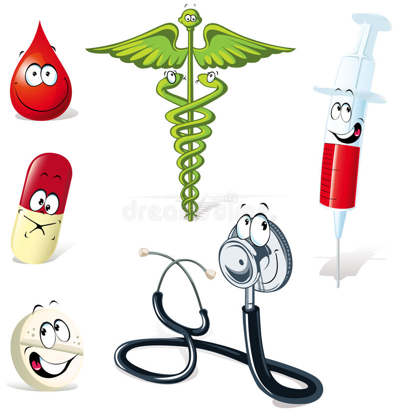 Medicinska illustrationer royaltyfri illustrationer