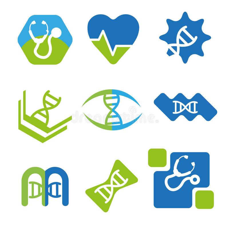Medicinska logoer royaltyfri foto