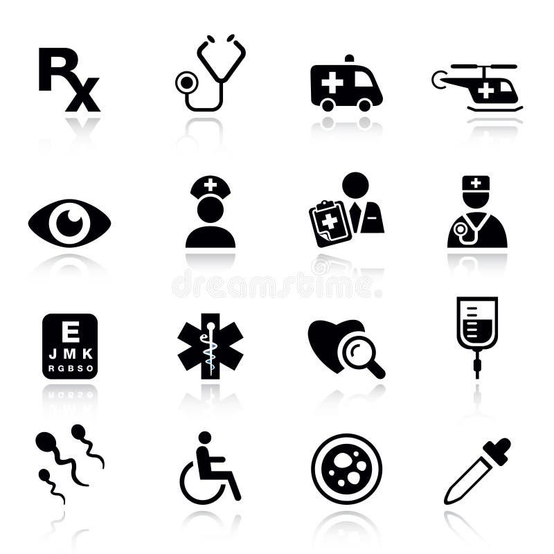 medicinska normala symboler vektor illustrationer