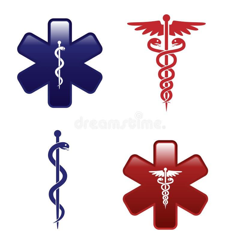 medicinska set symboler vektor illustrationer