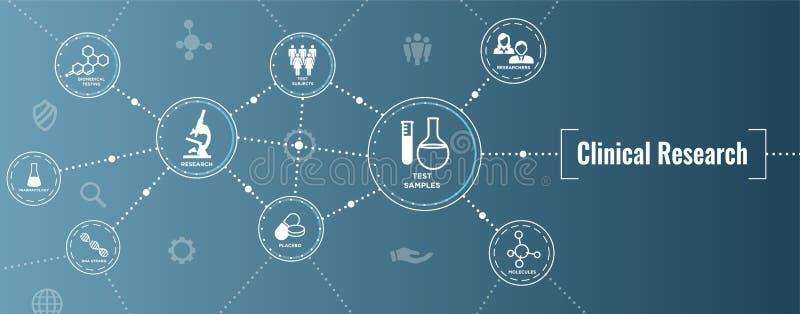 Medicinska sjukvårdsymboler med folk som kartlägger sjukdomen/Scientif stock illustrationer