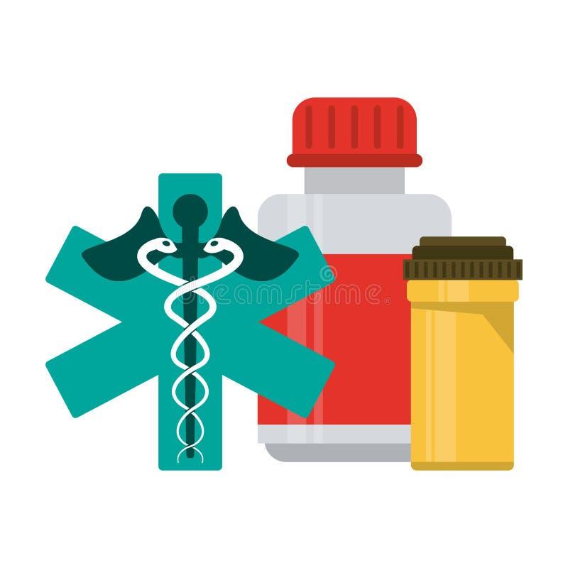 Medicinska sjukvårdtillförsel vektor illustrationer