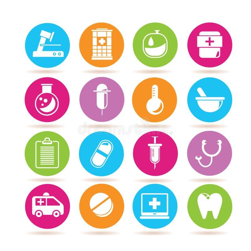 medicinska symboler vektor illustrationer