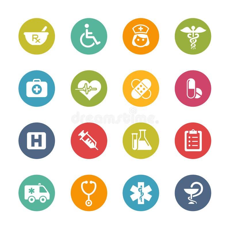 Medicinska symboler -- Ny färgserie vektor illustrationer