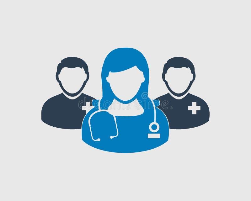 Medicinska Team Icon royaltyfri illustrationer