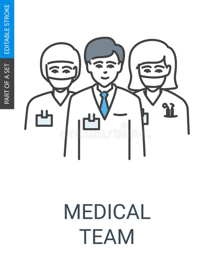 Medicinska Team Icon royaltyfri illustrationer