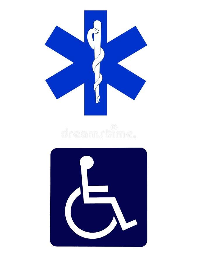 medicinska tecken royaltyfri illustrationer