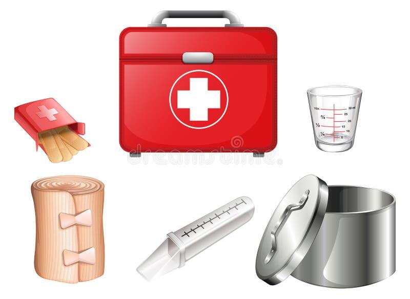 medicinska tillförsel royaltyfri illustrationer