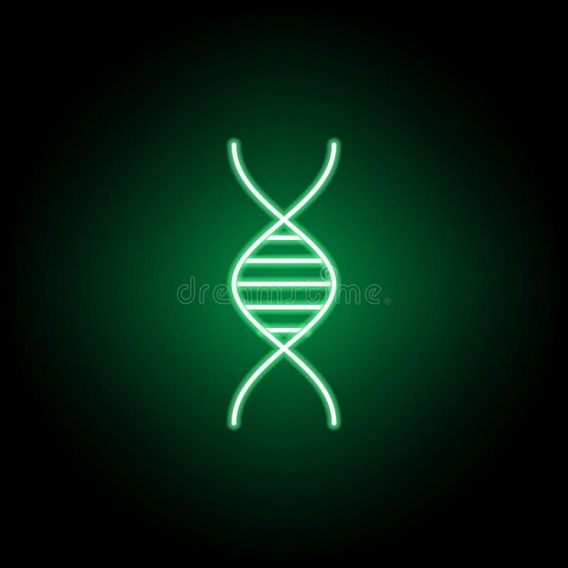Medicinskt dna-symbol i neonstil Best?ndsdel av medicinillustrationen Tecknet och symbolsymbolen kan anv?ndas f?r reng?ringsduken royaltyfri illustrationer
